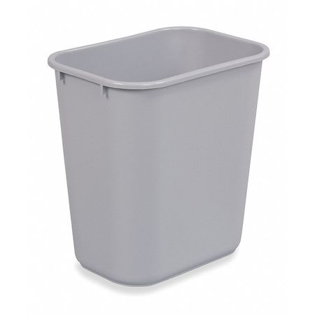 10.3 gal.  Rectangular  Gray  Trash Can