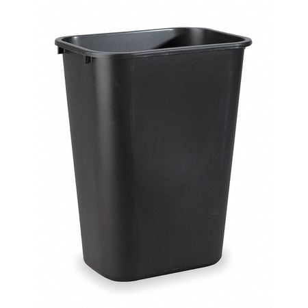 10.3 gal.  Rectangular  Black  Trash Can