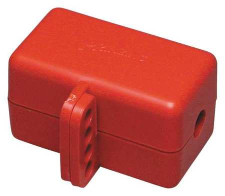 Plug Lockout, Red, 5/16In Shackle Dia.