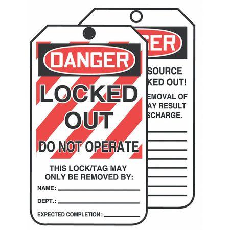 Danger Tag, 6-1/4 x 3 In, Cardstock, PK250