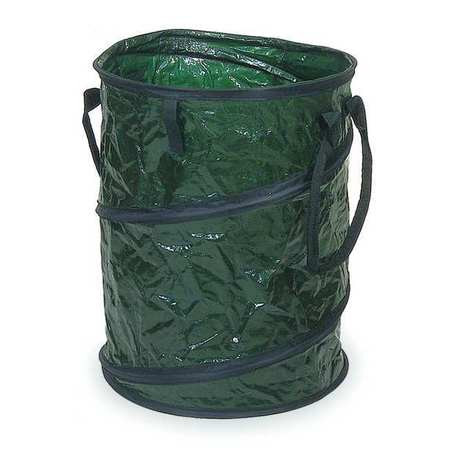 29 gal. Green Round Plastic Round Collapsible Litter Bag