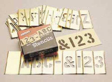 Interlocking Stncls, Numb & Letters, Brass