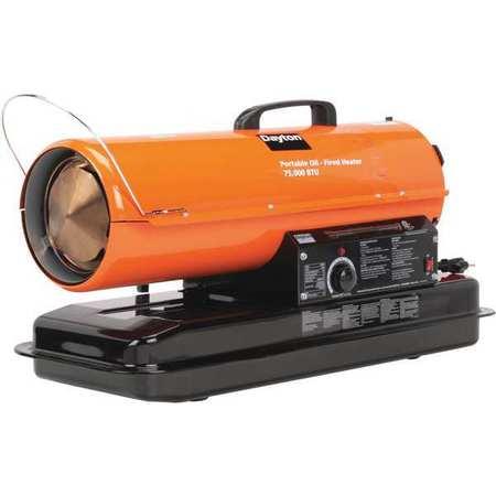 75000 BtuH Oil Fired Torpedo Heater,  Kerosene/Diesel