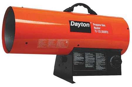 70000/125000 BtuH Torpedo Portable Gas Heater,  LP