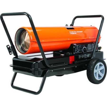 170000 BtuH Oil Fired Torpedo Heater,  Kerosene/Diesel