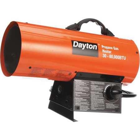30000/60000 BtuH Forced Air Portable Gas Heater,  LP