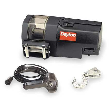 Electric Winch, 1-4/5HP, 12VDC