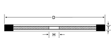 Straight Cut Off Wheel, 6In, 100, 1A1R