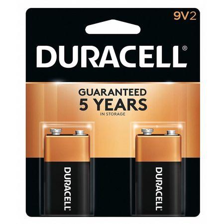 DURACELL Alkaline 9V Batteries,  2 Pack