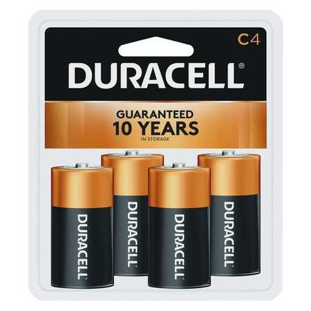 DURACELL Alkaline C Batteries,  4 Pack