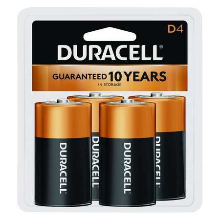 DURACELL Alkaline D Batteries,  4 Pack