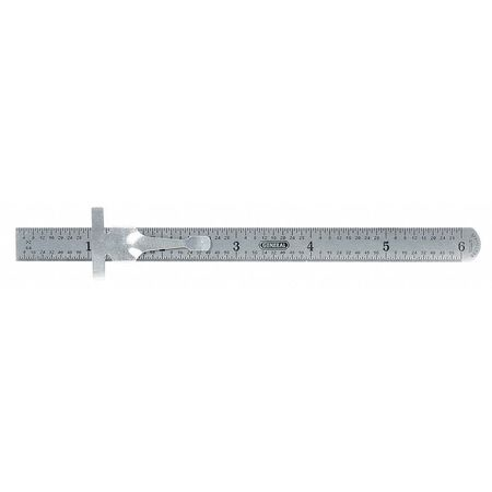 Flexible Steel Rule, 6 In, SAE/Decimal