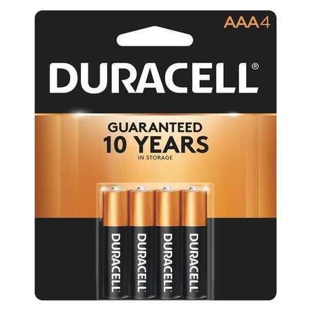 DURACELL Alkaline AAA Batteries,  4 Pack