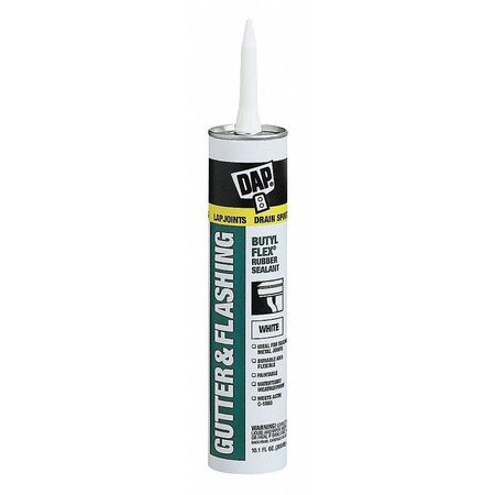 Gutter and Flashing Sealant, 10.1oz, White