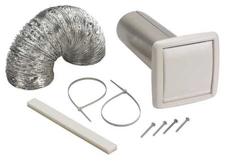 Wall Vent Kit, Flexible Duct, 5 ft. L