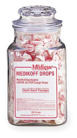 Cough Drops, Lozenge, 7.6mg, PK600