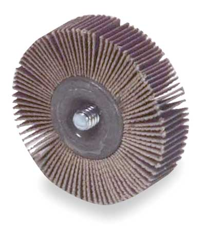 Flap Wheel, AO, 2-1/2x1x1/4-20 Shank, 120G