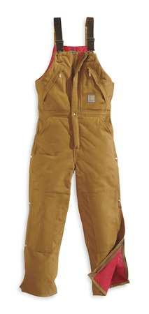 Bib Overalls, Brown, Size 34x32 In