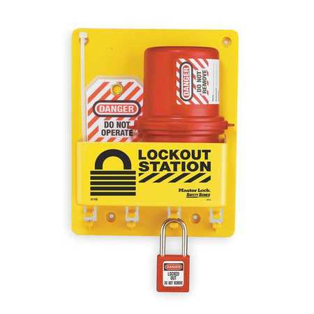 Lockout Station, Filled, Electrical, 8 In W