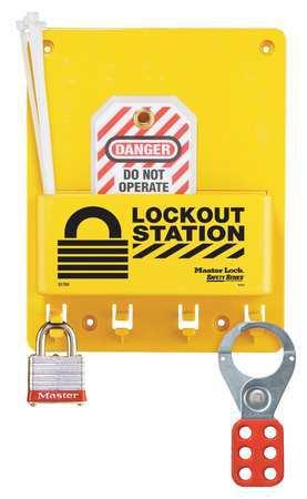 Lockout Station, Filled, 1 Steel Lock