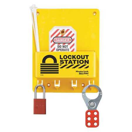 Lockout Station, 9-3/4 In.H
