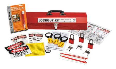 Portable Lockout Kit, Filled, 24Components