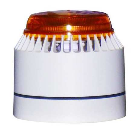 Horn Strobe, White/Amber, ABS, 18 to 30VDC