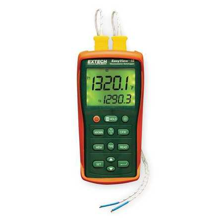 Dual-Input Thermocouple Thermometers and Data Loggers