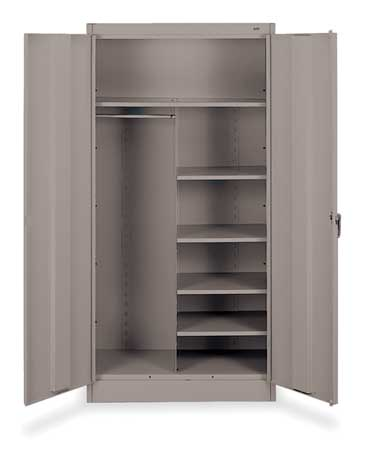 Combination Storage Cabinet, Medium Gray