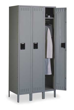Wardrobe Locker, (3)Wide, (3)Openings