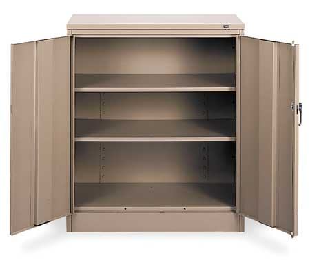 Counter Height Cabinet, Unassembled, Sand