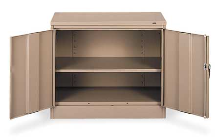 Desk Height Cabinet, Unassembled, Sand