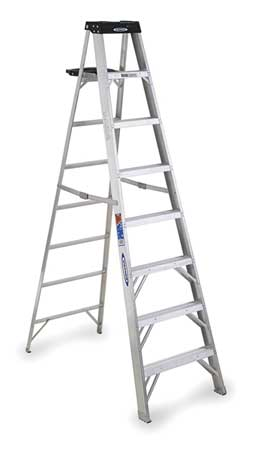 8' Aluminum 300 lb. Stepladder,  Type IA
