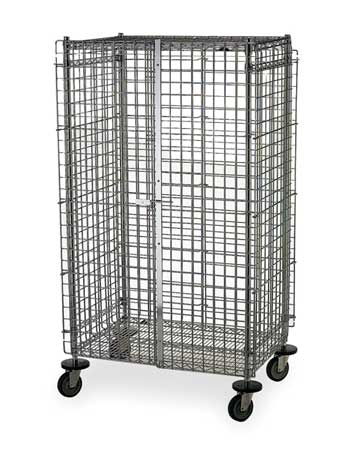 Wire Security Cart, 900 lb., 24 In. W