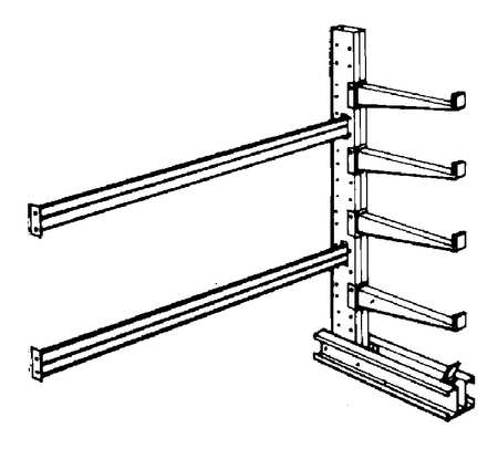 Add-On Cantilever Rack, 1 Side, 8 ft. H