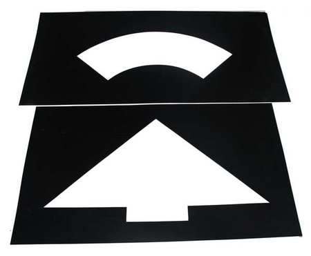 Parking Lot Symbol, Curved Arrow, Plastic