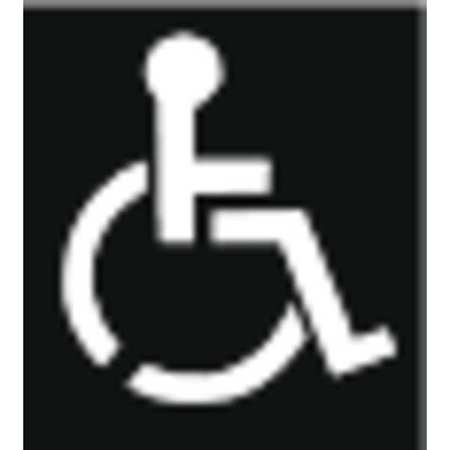 Parking Lot Symbol, Disabled, Plastic
