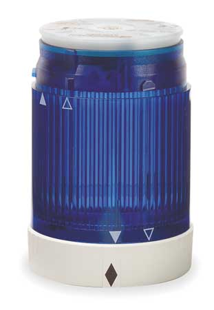 Tower Light, Flashing, 24VAC/DC, 50mm, Blu