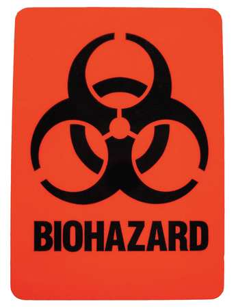 Hazardous Waste Label, 2-7/8 In. H, PK25