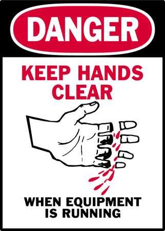 Danger Label, Instruction, 3-1/2 In. H, PK5