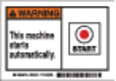 Machine/Equipment Label, PK5