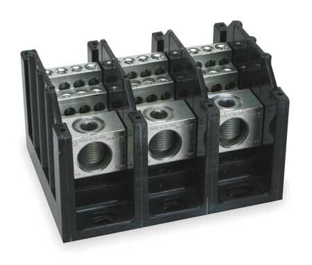 Pwr Dist Block, 310A, 3P, 1P Primary, 600V
