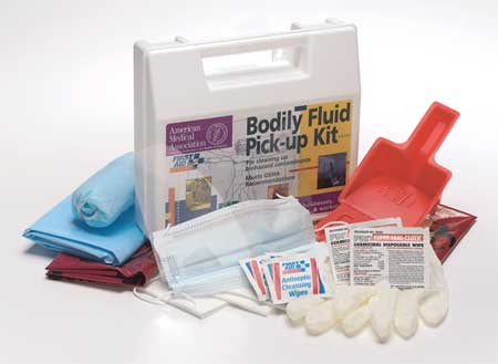 Biohazard Spill Kit, Carrying Case, White