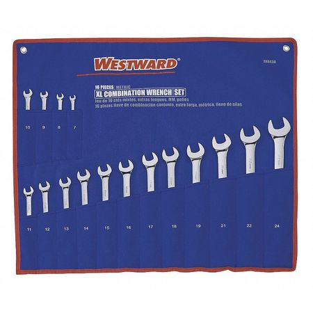 Combo Wrench Set, 1/4-1-1/8in, 7-24mm, 32Pc