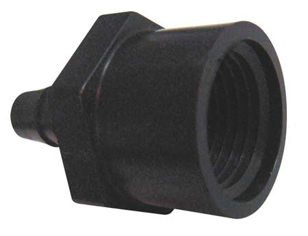 Female Adapter, 1/4 x 1/2 In, Nylon, PK10