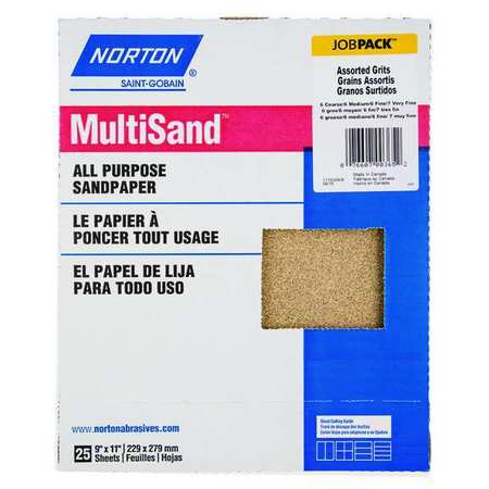 Sanding Sheet Asst, 25 Pc, 9x11 In