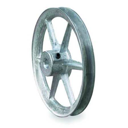 "5/8"" Fixed Bore 1 Groove V-Belt Pulley 7"" OD"