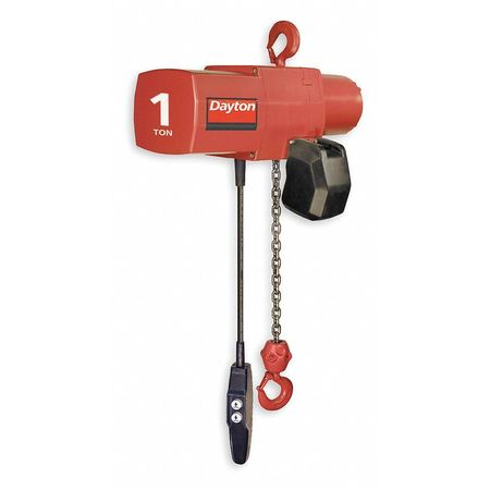 Electric Chain Hoist, 2000 lb., 20 ft.