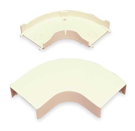 Flat Elbow,  90 deg., Ivory, PVC, Elbows