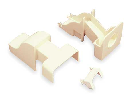 Drop Ceiling Connector, Ivory, PVC, Ends